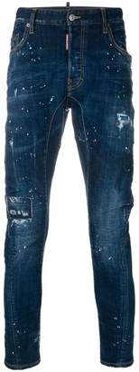 DSQUARED2 slim fit paint splatter jeans