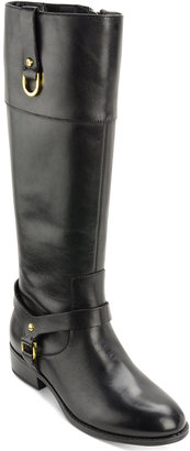 Lauren Ralph Lauren Mesa Wide-Calf Riding Boots $159 thestylecure.com