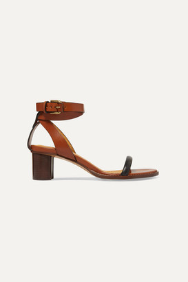 Isabel Marant Jadler Two-tone Leather Sandals - Brown