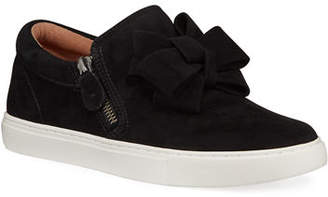 Gentle Souls Hale Ribbon Suede Slip-On Sneakers