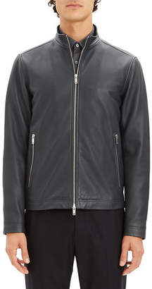 Theory Men's Kelleher Morvek Zip-Front Leather Jacket