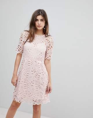 Warehouse Floral Lace Dress