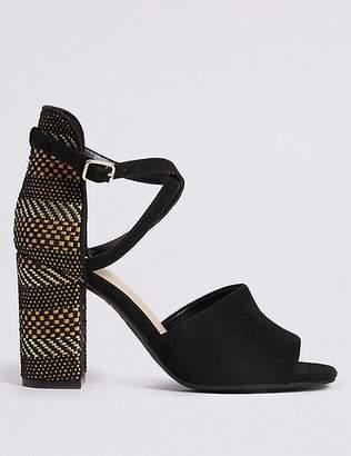 Marks and Spencer Block Heel High Back Sandals