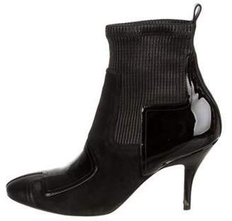 Pierre Hardy Round-Toe Ankle Booties Black Round-Toe Ankle Booties