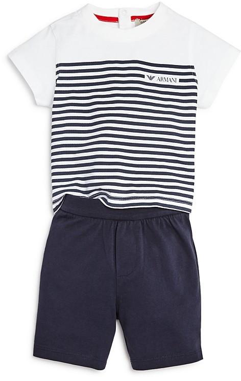 Armani JuniorArmani Infant Boys' Striped Tee & Shorts Set - Sizes 9-24 Months