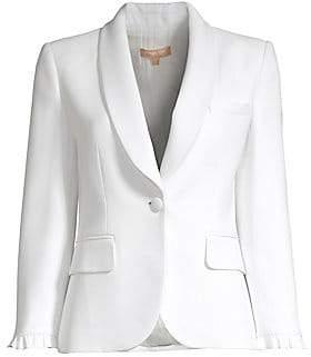Michael Kors Women's Ruffle One Button Jacket