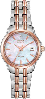 Citizen 28mm Bracelet Watch w/ Date Window, Two-Tone