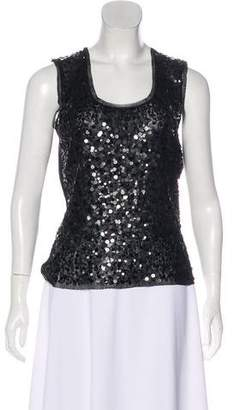 Magaschoni Sequined Sleeveless Top w/ Tags