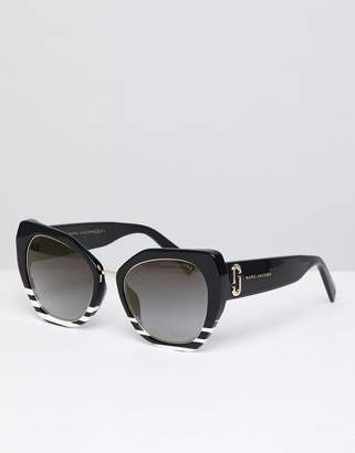 Marc Jacobs cat eye sunglasses in black & white