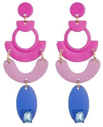 Free Press Abstract Small Chandelier Earrings
