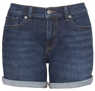 "Banana Republic Petite Roll-Up Medium Wash 6"" Denim Short"
