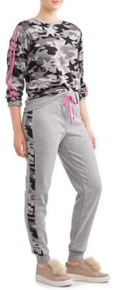Eye Candy Juniors' Camo Printed Pullover Sweatshirt & Jogger Bundle