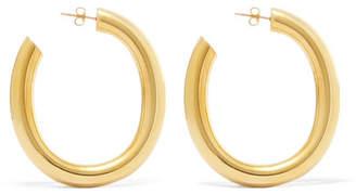 Laura Lombardi Curve Gold-tone Hoop Earrings