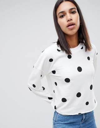 Noisy May polka dot sweatshirt
