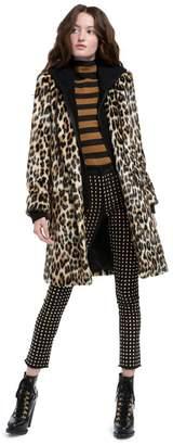 Alice + Olivia Kylie Faux Fur Hoodie Coat