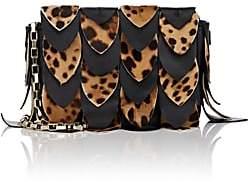 Tomasini Women's Chloris Leather & Calf Hair Shoulder Bag - Leopard, Blk