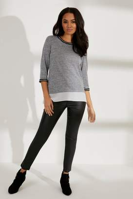 Next Womens Dorothy Perkins Petite Coated Super Skinny Jeans