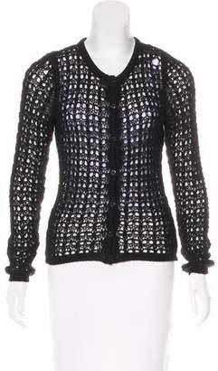 Dolce & Gabbana Mohair Open-Knit Cardigan