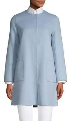 Max Mara Long-Sleeve Reversible Coat