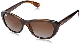 Ray-Ban INJECTED WOMAN SUNGLASS - Frame BROWN GRADIENT POLAR Lenses 55mm Polarized