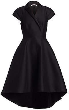 Halston Women's Tuxedo Silk Faille Fit-&-Flare Dress - Size 0