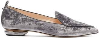 Nicholas Kirkwood Beya crushed-velvet loafers