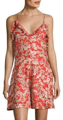 Rebecca Taylor Cherry Blossom Silk Romper
