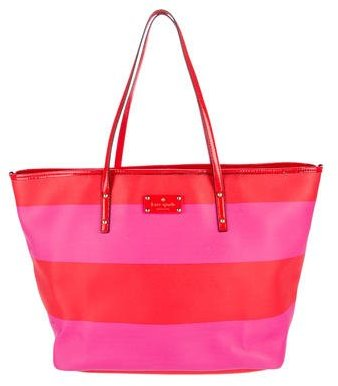 Kate Spade Kate Spade New York Leather-Trimmed Striped Tote