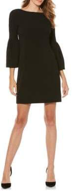 Laundry by Shelli Segal Crepe Shift Bell Sleeve Dress