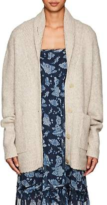 Raquel Allegra Women's Eye-Embroidered Alpaca-Blend Cardigan - Neutral