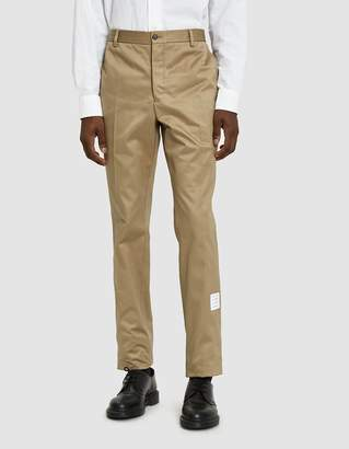 Thom Browne Cotton Twill Trouser in Camel