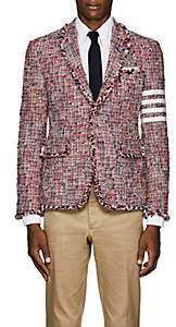 Thom Browne Men's Block-Striped Tweed Three-Button Sportcoat
