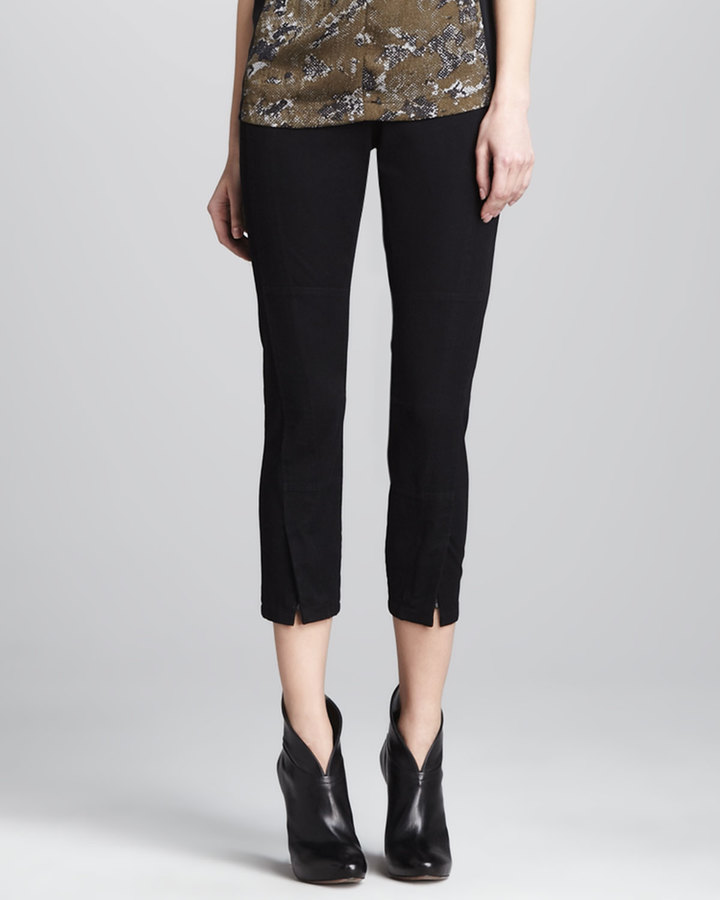 Robert Rodriguez Double-Seam Twill Ankle Pants