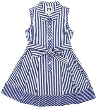 Milly Minis Striped Cotton Poplin Dress