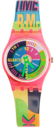 Vintage Swatch Neon Everywhere Watch