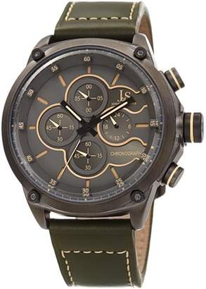 Joshua & Sons JX133 Gray Casual Quartz Watch With Leather Strap [JX133GN]