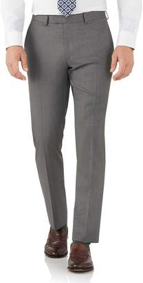 Charles Tyrwhitt Grey Slim Fit Italian Suit Wool Pants Size W36 L38