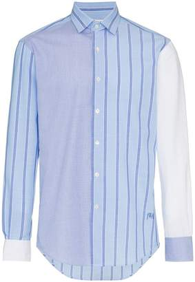 J.W.Anderson panelled stripe cotton long sleeve shirt
