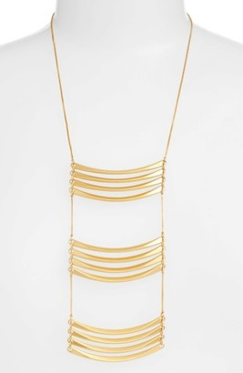 Women's Madewell Golden Crossing Necklace $55 thestylecure.com