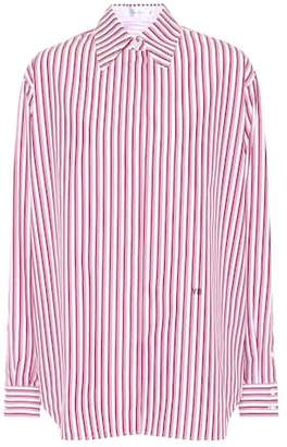 Victoria Beckham Striped cotton shirt