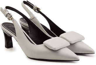 Marni Leather Slingback Kitten Heels