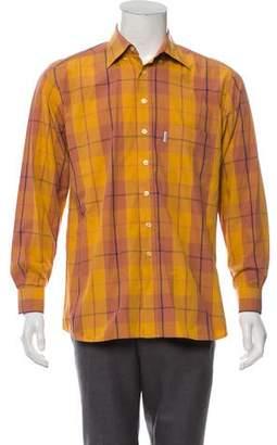 Valentino Jeans Plaid Button-Up Shirt