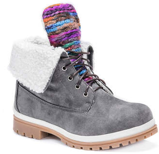 Muk Luks Womens Megan Water Resistant Winter Boots Lace-up
