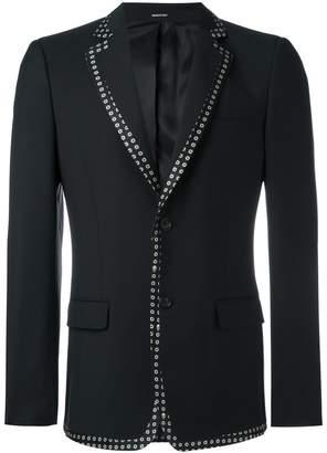 Alexander McQueen contrast edge blazer jacket