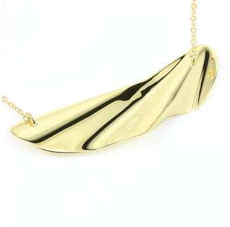 Tiffany & Co. 18K Yellow Gold Leaf Pendant Necklace