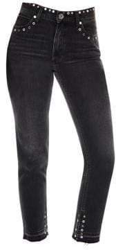 Sandro Polygone Studded Skinny Jeans