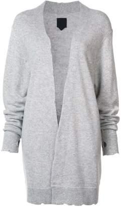 RtA cashmere distressed long cardigan