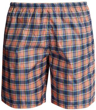 Prada Checked swim shorts