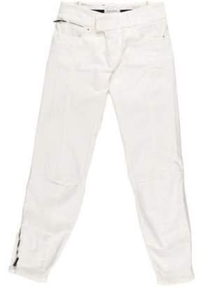 CNC Costume National Mid-Rise Straight Leg Jeans White Mid-Rise Straight Leg Jeans