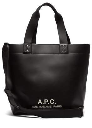 A.P.C. Eddy Logo Print Tote - Womens - Black